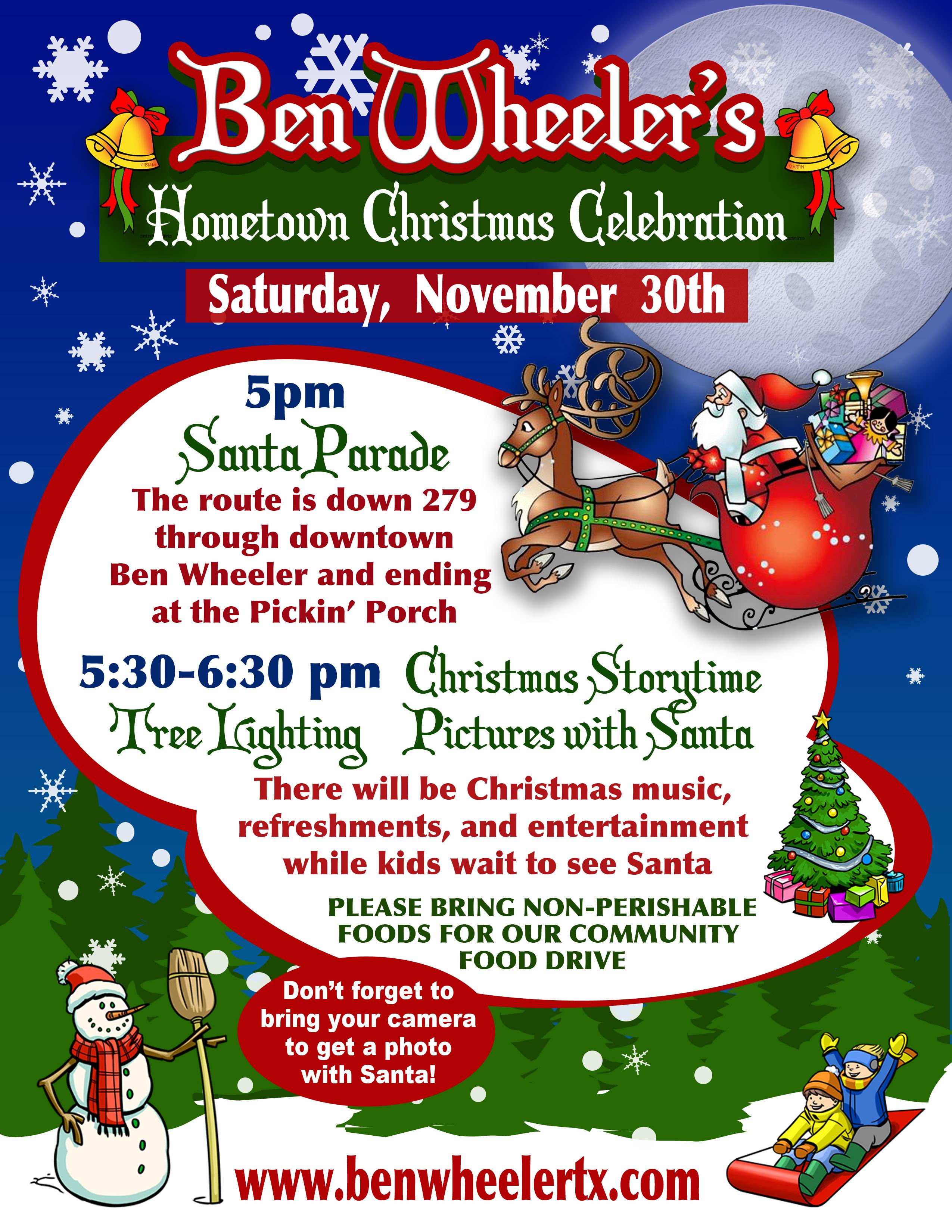 Ben Wheeler's Hometown Christmas Celebration – The Forge Bar and Grill, Ben Wheeler, TX