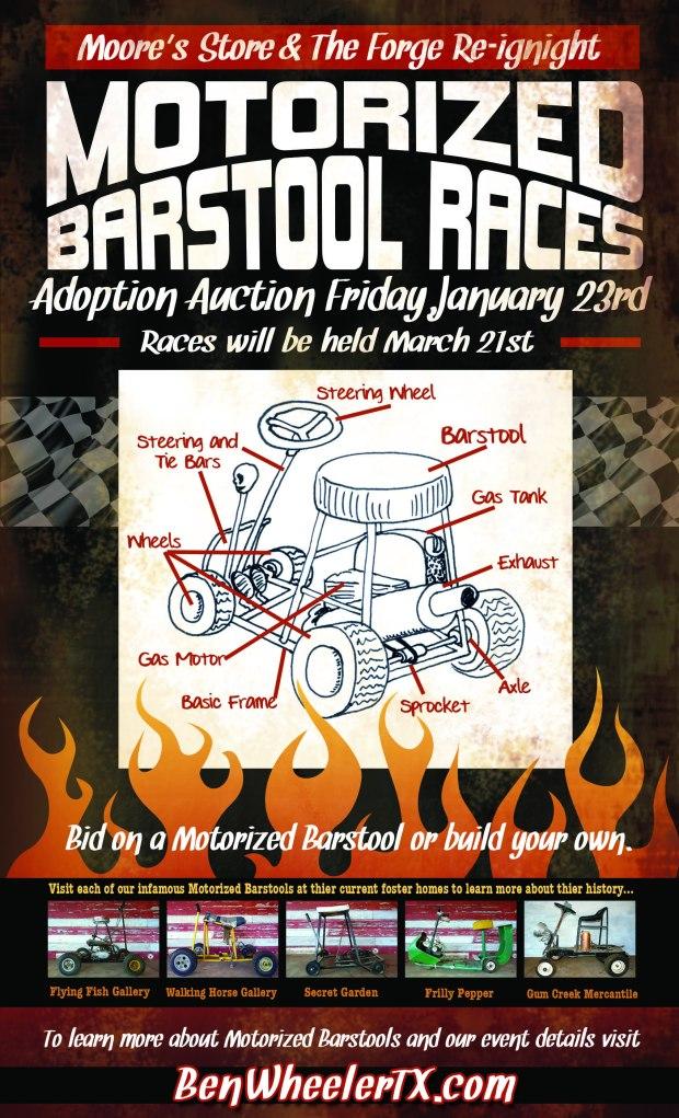 Motorized Bar Stool Banner